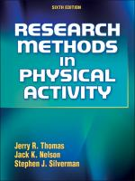 Cover image for Research methods in physical activity