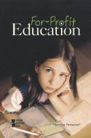 Cover image for For-profit education