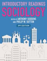 Cover image for Sociology : introductory readings