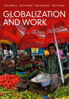Cover image for Globalization and work