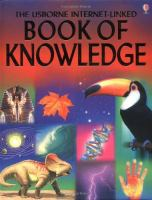 Cover image for The usborne internet-linked book of knowledge