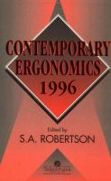 Cover image for Contemporary ergonomics 1996 : proceedings of the Annual Conference of the Ergonomics Society : University of Leicester, 10-12 April 1996