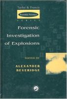 Cover image for Forensic investigation of explosions