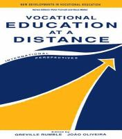 Cover image for Vocational education at a distance