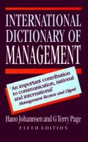 Cover image for International dictionary of management