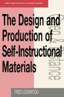 Cover image for The design and production of self-instructional materials