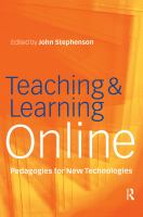 Cover image for Teaching and learning online: pedagogies for new technologies