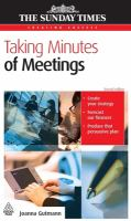 Cover image for Taking minutes of meetings