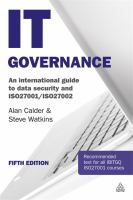 Cover image for IT governance : an international guide to data security and ISO27001/ISO27002