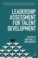 Cover image for Leadership assessment for talent development