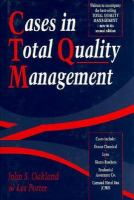 Cover image for Cases in total quality management