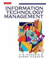 Cover image for Information technology management