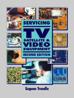 Cover image for Servicing tv, satellite and video equipment