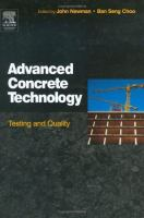 Cover image for Advanced concrete technology : testing and quality