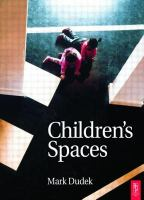 Cover image for Children's spaces