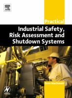 Cover image for Practical industrial safety, risk assessment and shutdown systems for industry