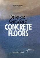 Cover image for Design and construction of concrete floors