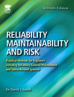 Cover image for Reliability, maintainability and risk : practical methods for engineers