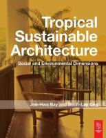 Cover image for Tropical sustainable architecture : social and environmental dimensions