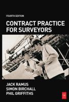 Cover image for Contract practice for surveyors