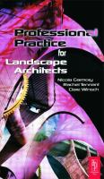 Cover image for Professional practice for landscape architects