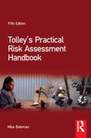 Cover image for Tolley's practical risk assessment handbook