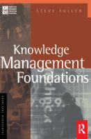 Cover image for Knowledge management foundations