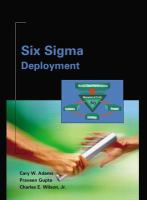 Cover image for Six sigma deployment