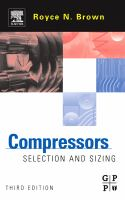 Cover image for Compressors : selection and sizing