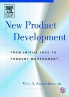 Cover image for New product development : from initial idea to product management