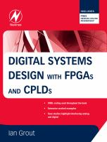 Cover image for Digital systems design with FPGAs and CPLDs