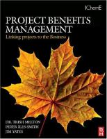 Cover image for Project benefits management : linking your projects to the business