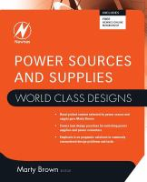 Cover image for Power sources and supplies : world class designs