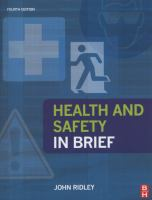 Cover image for Health and safety : in brief