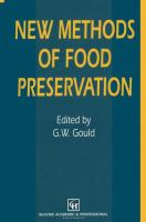 Cover image for New methods of food preservation