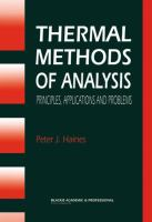 Cover image for Thermal methods of analysis