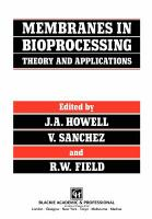 Cover image for Membranes in bioprocessing