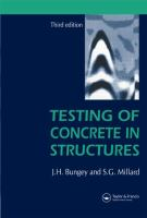 Cover image for Testing of concrete in structures
