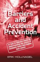 Cover image for Barriers and accident prevention