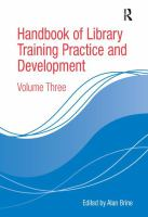 Cover image for Handbook of library training practice and development
