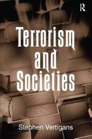 Cover image for Terrorism and societies