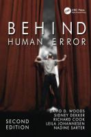 Cover image for Behind human error