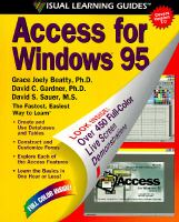 Cover image for Access of windows 95 : the visiual learning guide