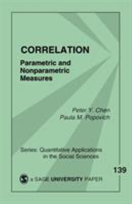 Cover image for Correlation : parametric and nonparametric measures