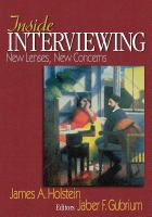 Cover image for Inside interviewing : new lenses, new concerns