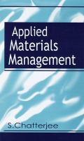 Cover image for Applied materials management