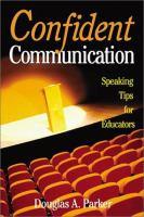 Cover image for Confident communication :  speaking tips for educators