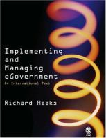 Cover image for Implementing and managing eGovernment : an international text
