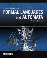 Cover image for An introduction to formal languages and automata