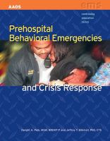 Cover image for Prehospital behavioral emergencies and crisis response